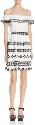 Alice + Olivia Rozzi Off-the-Shoulder Dress $495 thestylecure.com