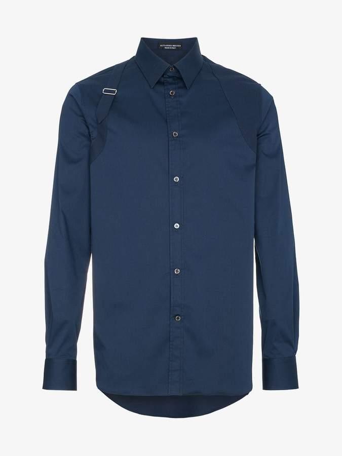 Harness long sleeved cotton shirt