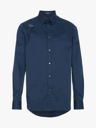 Alexander McQueen Harness long sleeved cotton shirt