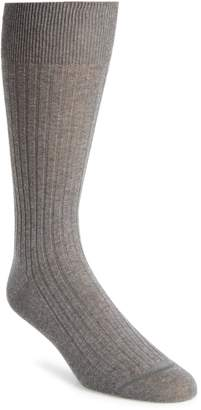 John W. Nordstrom R) Ribbed Pima Cotton Crew Socks