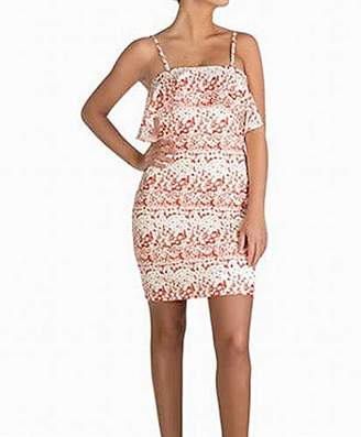 GUESS Women's Floral Printed Strapless Dress