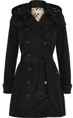 Burberry - Balmoral Packaway Hooded Shell Trench Coat - Black $795 thestylecure.com