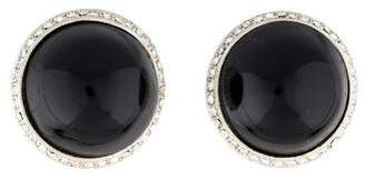 Diane von Furstenberg Button Clip-On Earrings