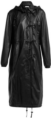 Altuzarra Marina Single Breasted Leather Coat - Womens - Black