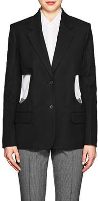 Helmut Lang Women's Cutout Canvas Two-Button Blazer - Black
