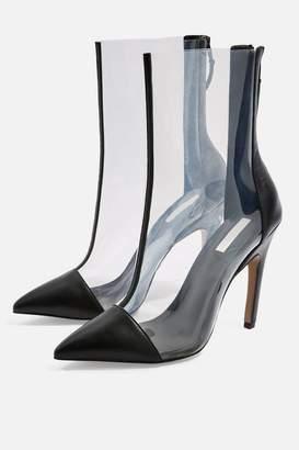 Topshop HOCKEY Transparent Heel Boots