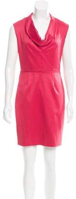Lela Rose Cowl Neck Mini Dress