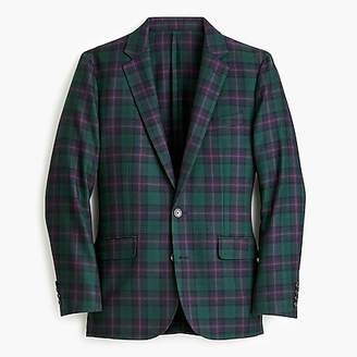 J.Crew Ludlow Slim-fit unstructured suit jacket in Wells tartan English wool-cotton twill