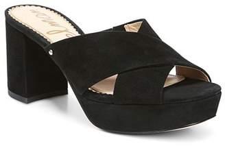 Sam Edelman Women's Jayne Suede Platform High-Heel Slide Sandals