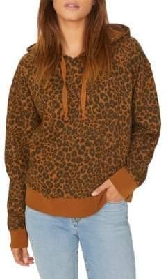 Sanctuary Venice Leopard Print Cotton Hoodie