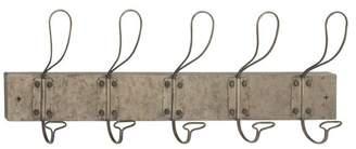 Brimfield & May Industrial Rectangular Iron Wire Wall Hook Rack
