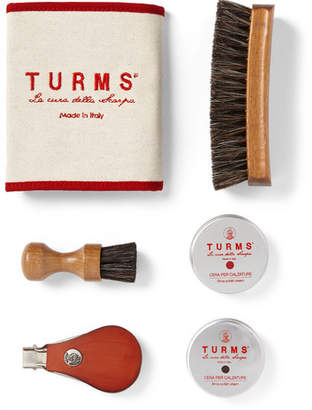Turms - Beauty Shoe Care Kit with Leather Case - Men - Tan