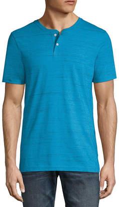 Arizona Mens Short Sleeve Henley Shirt