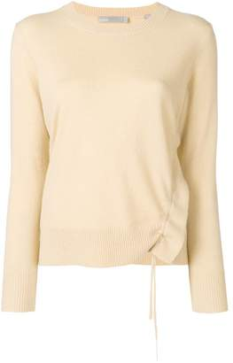 Vince cashmere gathered detail sweater