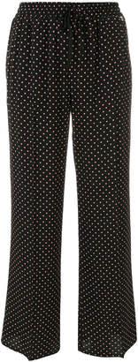 Twin-Set straight polka dot trousers