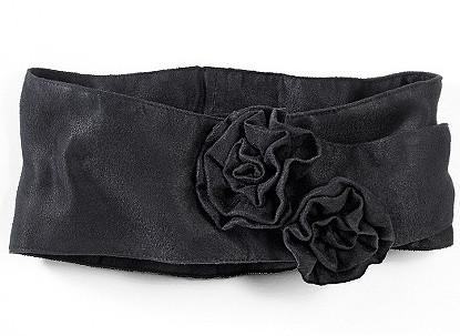 Rose-Embellished Wrap Belt