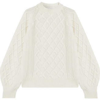 Victoria Beckham - Oversized Cable-knit Wool Sweater - White