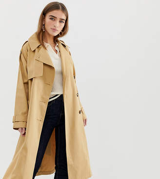 Asos DESIGN Petite longline trench coat