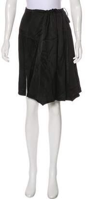 Ann Demeulemeester Satin Knee-Length Skirt