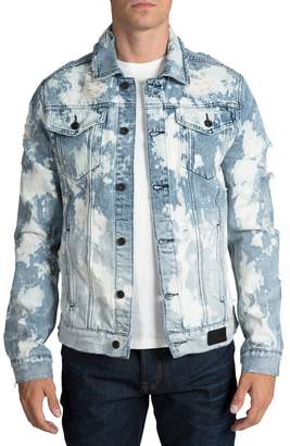 PRPS City Scapes Ripped Denim Jacket
