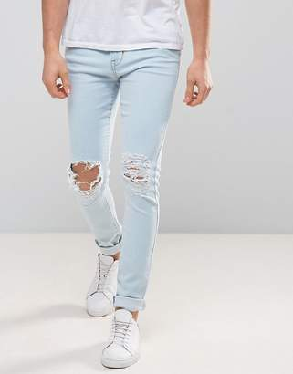 Dr. Denim Leroy Ripped Super Skinny Jeans