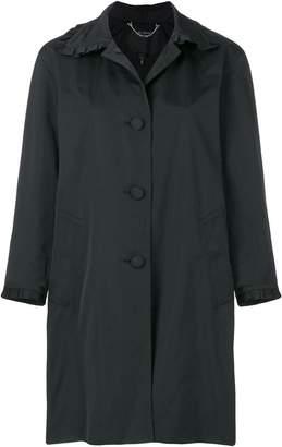 Marc Jacobs frill detail balmacaan coat