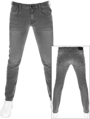Replay Anbass Hyperflex Jeans Grey