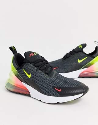 Nike 270 Retro Future sneakers in black and green
