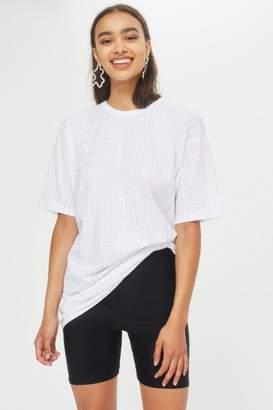 Topshop Crystal Embellished Tunic T-Shirt