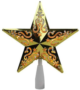 """The Holiday Aisle 8.5"""" Star Cut-Out Design Christmas Tree Topper"""