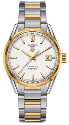 Tag Heuer Carrera Calibre 5 Stainless Steel and 18K Yellow Gold Watch, 39mm