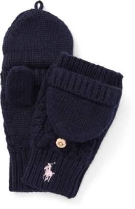 Ralph Lauren Aran-Knit Fold-Back Mittens