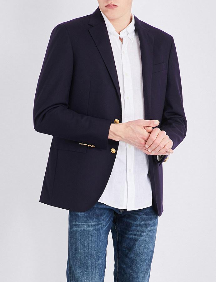 Polo Ralph LaurenPolo Ralph Lauren Notch-lapel doeskin wool jacket