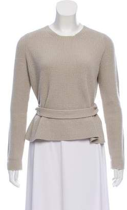 Burberry Wool Belted Sweater