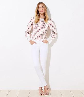 LOFT Modern Slim Pocket Skinny Jeans in White
