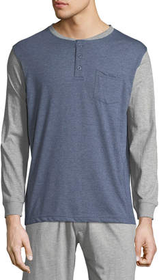 Unsimply Stitched Men's Pocket Baseball Henley Shirt