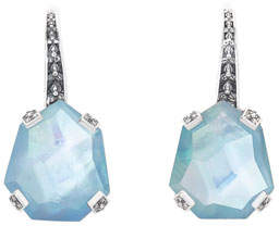 Stephen Dweck Galactical Freeform Triplet Earrings, Blue