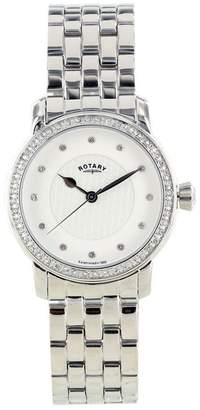 Rotary Women's Dial Crystal Numeral Stainless Steel Bracelet Chronograph LB00120/06