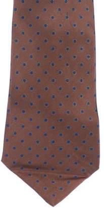 Stefano Ricci Polka Dot Print Silk Tie
