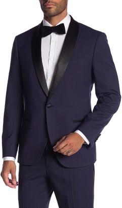 Co Savile Row Varick Purple One Button Shawl Lapel Slim Fit Tuxedo Jacket