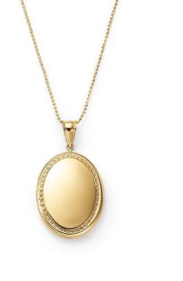 "Bloomingdale's 14K Yellow Gold Oval Locket Necklace, 22"" - 100% Exclusive"