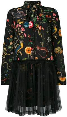 RED Valentino short floral tulle dress