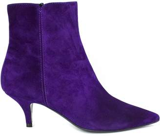 Roberto Festa Purple Suede Leather Oxford Ankle Boots.