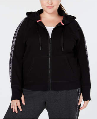Calvin Klein Plus Size Relaxed Zip Hoodie