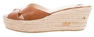 Jimmy Choo Cutout Espadrille Wedge Sandals