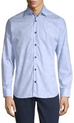 Jared Lang Cotton Polka Dot Shirt