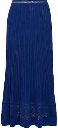 Oscar de la Renta - Fluted Stretch-knit Maxi Skirt - Blue $1,490 thestylecure.com