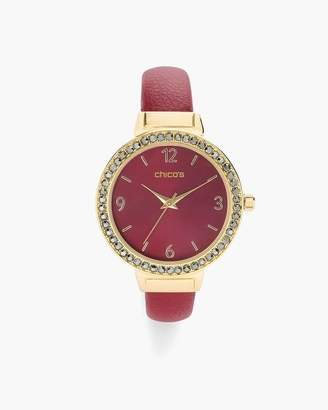 Chico's Chicos Red and Gold-Tone Watch