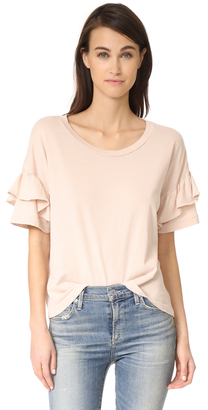 Current/Elliott The Ruffle Roadie Tee $118 thestylecure.com