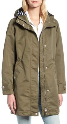 Joules Right as Rain Long Line Hooded Waterproof Raincoat